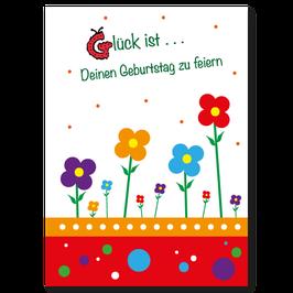 Geburtstagskarte Blumenwiese