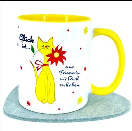 Tasse für deine Friseurin, Motiv Katze