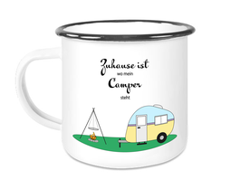 Emaille Becher Camping