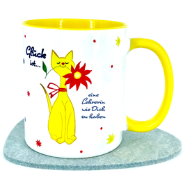 Tasse für Lehrerin, Motiv Katze