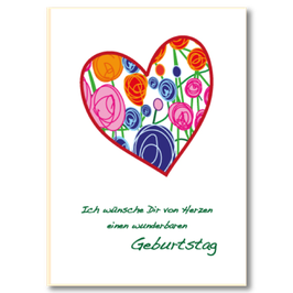 Geburtstagskarte Herz