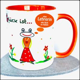 Tasse für Lehrerin, orange