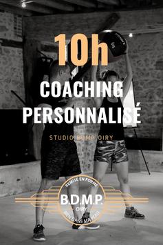 10h00 de coaching personnalisé