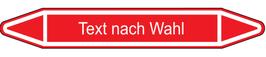 "Klebefolie ""Text nach Wahl"" Pfeilform 75x17mm/ 126x26mm/ 179x37mm-rot"