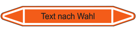 "Klebefolie ""Text nach Wahl"" Pfeilform 75x17mm/ 126x26mm/ 179x37mm-orange"