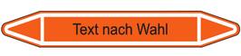 """Klebefolie """"Text nach Wahl"""" Pfeilform 75x17mm/ 126x26mm/ 179x37mm-orange"""