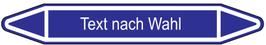 "Klebefolie ""Text nach Wahl"" Pfeilform 75x17mm/ 126x26mm/ 179x37mm-blau"