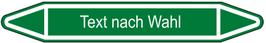 "Klebefolie ""Text nach Wahl"" Pfeilform 75x17mm/ 126x26mm/ 179x37mm-grün"