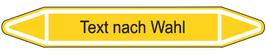 "Klebefolie ""Text nach Wahl"" Pfeilform 75x17mm/ 126x26mm/ 179x37mm-gelb"