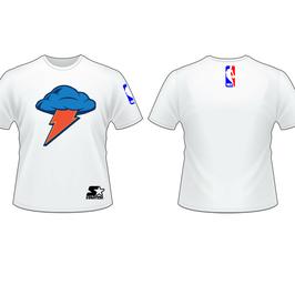 Купить хлопчатобумажную футболку Оклахома Сити Тандер белую
