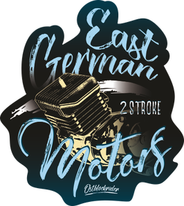 "Sticker ""East German Motors 1"""