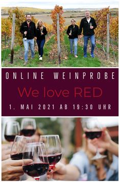 We love RED - Online-Weinprobe *LIVE*