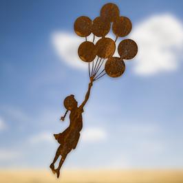 Bambina con palloncini Cod. A3
