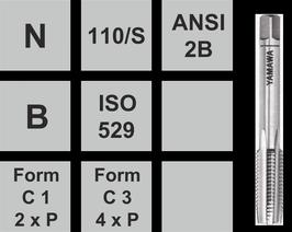 Gewindebohrer N-110/S UNF/ aus Set einzel Stk. Fertigschneider Nr.3