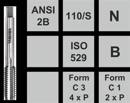 Gewindeschneidwerkzeuge N-110/S UNC aus Set einzel Stk. Vorschneider Nr. 1