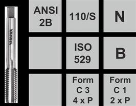 Gewindeschneidwerkzeuge N-110/S UNC aus Set einzel Stk. Fertigschneider Nr. 3