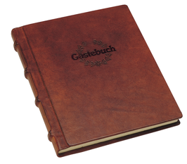 Gästebuch Leder mit Prägung