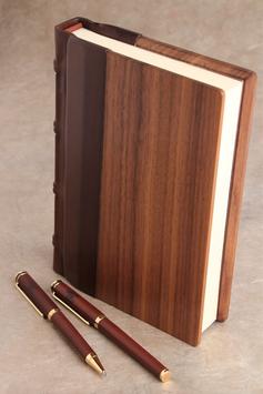 Gästebuch Holz-Leder