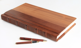 Gästebuch Holz-Leder, groß