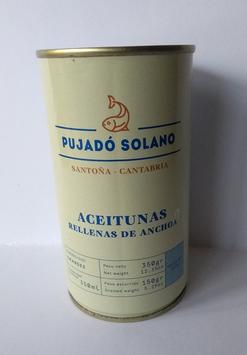 ACEITUNAS 350g.  RELLENA ANCHOAS PUJADO
