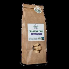 4x 70g faire Bio-Cashews von der Elfenbeinküste: Garlic & Pepper