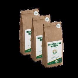 3x 250g faire Bio-Cashewkerne (Elfenbeinküste)