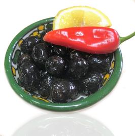 Schwarze Baladi Oliven aus Palästina