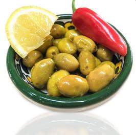 Grüne Baladi Oliven aus Palästina
