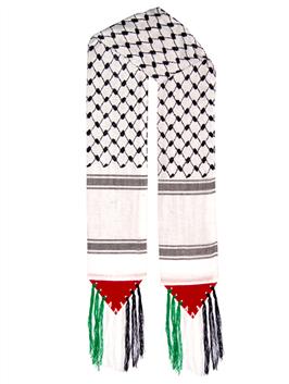 Palästina-Schal Schwarz-Weiß