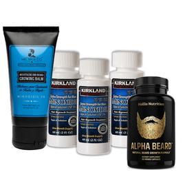 Kit: minoxidil + bálsamo Mel Bros + Alpha Beard