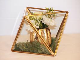 Miniterrarium geometrisch Gold, klein