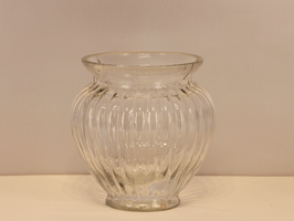 Vase Groß, geriffelt