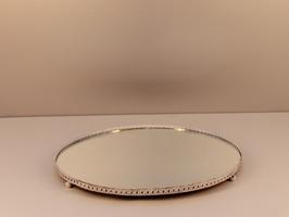 romantisches Spiegeltablett Ø34,5cm