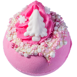 "Boule de bain ""Pink Christmas"" 160g - Bomb Cosmetics"