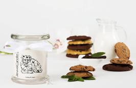 "Bougie parfumée ""Cookies & Cream"" (boucles d'oreilles) - JewelCandle"