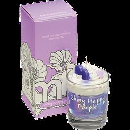 "Bougie crème chantilly ""Shiny Happy Purple"" - Bomb Cosmetics"