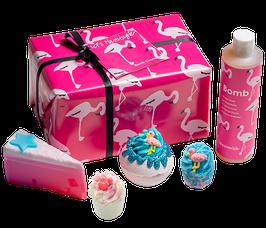 """Coffret de bain """"Let's Flamingle"""" - Bomb Cosmetics"""