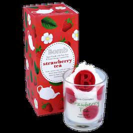 "Bougie crème fouettée ""Strawberry Tea"" - Bomb Cosmetics"