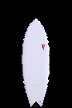 ASTRO FISH WHITE 6-6x21.75x2.88 FISH FUTURE 4 FIN BOX V-45.1L