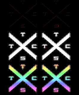 TSTC Kreuz Set Aufkleber