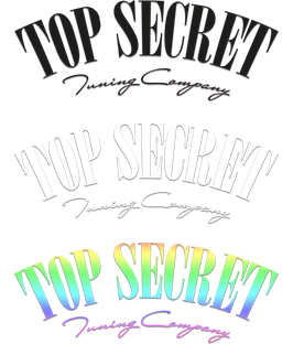 Top Secret Oldschool Aufkleber
