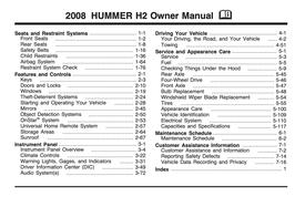 Hummer H2 Handbuch 2008 PDF