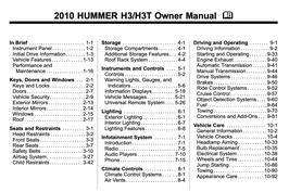 Hummer H3 / H3T Handbuch 2010 PDF