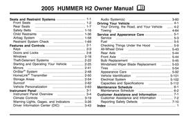 Hummer H2 Handbuch 2005 PDF