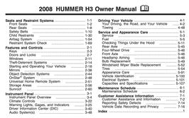 Hummer H3 Handbuch 2008 PDF