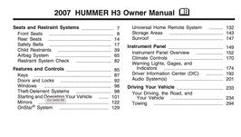 Hummer H3 Handbuch 2007 PDF