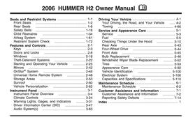 Hummer H2 Handbuch 2006 PDF