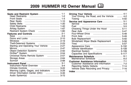 Hummer H2 Handbuch 2009 PDF