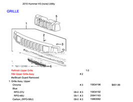 Hummer H3 Preisliste mit Teilenummern PDF