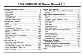 Hummer H3 Handbuch 2006 PDF